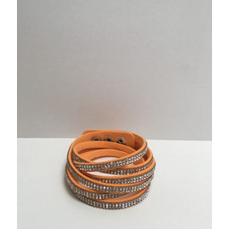 Lucy Cobb Sparkle Choker/Cuff - Orange