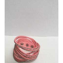 Lucy Cobb Sparkle Choker/Cuff - Pink Silver