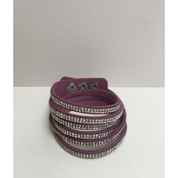 Lucy Cobb Sparkle Choker/Cuff - Purple