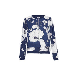 Great Plains Tropical Fauna Bomber Jacket - Navy Mix