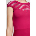 Rose Crepe Fit and Flare Dress - Magenta - Alternative 3