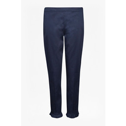 Great Plains Suki Stretch Ruffle Hem Trousers - Navy