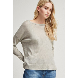 French Connection Spring Light Open Back Jumper - Light Grey