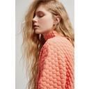 Mona Mozart Knit Oversized Jumper - Coral - Alternative 3