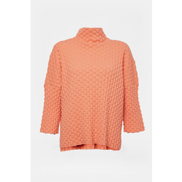 French Connection Mona Mozart Knit Oversized Jumper in Coral