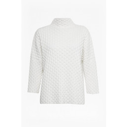 French Connection Mona Mozart Knit Oversized Jumper - White