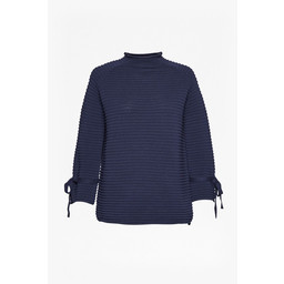 Great Plains Kimara Bow Sleeve Jumper - Navy