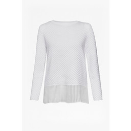 Great Plains Kimara Pleated Hem Jumper - White