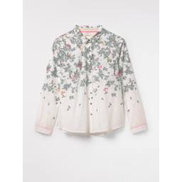 White Stuff Molly Bird Shirt - White Mix