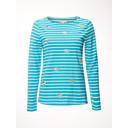 Birdie Stripe Jersey Tee - Turquoise