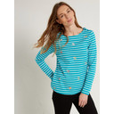 Birdie Stripe Jersey Tee - Turquoise - Alternative 2