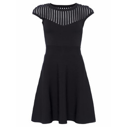 French Connection Rose Crepe Fit and Flare Dress - Navy