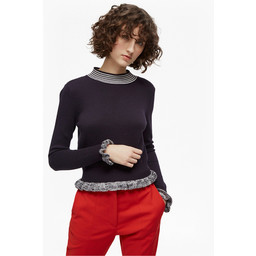 French Connection Alexa Knit High Neck Jumper - Navy
