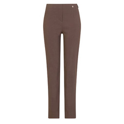 Robell Trousers Marie Fleece Lined Trousers in Mocha