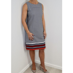 Alice Collins Molly Dress - Navy Mix