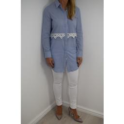 Glamorous Pinstripe Daisy Shirt - Blue