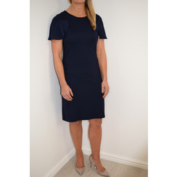 Great Plains Joelle Jersey Frill Detail Dress - Navy