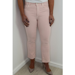 French Connection Antique Dye Kickcrop Jeans - Blush Pink