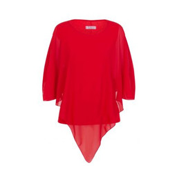 Deck Candice Chiffon Top - Red
