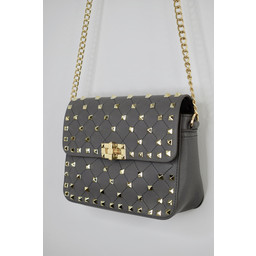 Lucy Cobb Stud Bag - Grey