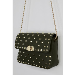 Lucy Cobb Stud Bag - Khaki