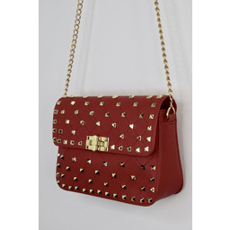 Lucy Cobb Stud Bag in Red