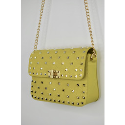 Lucy Cobb Stud Bag in Yellow