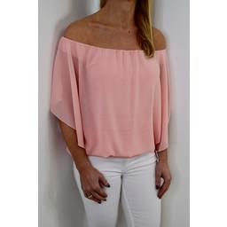 Deck Kendra Chiffon Top - Light Pink