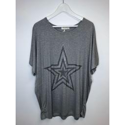Malissa J Star Jersey Top - Grey