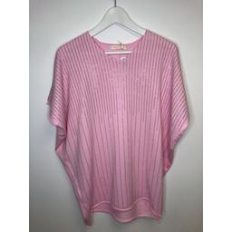 Malissa J Raining Stud Jumper - Bubblegum Pink