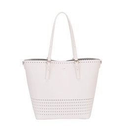 David Jones Detailed Shopper in White