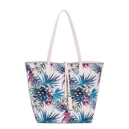 David Jones Floral Reversible Bag - White