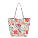 Floral Reversible Bag - Silver