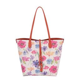 David Jones Floral Reversible Bag - Orange