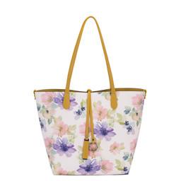 David Jones Floral Reversible Bag - Yellow