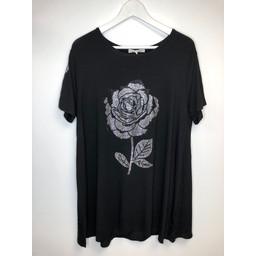 Malissa J Rose Swing Top - Black