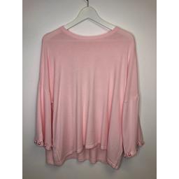 Malissa J Pearl Cuff Jumper - Light Pink