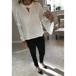 Lucy Cobb Paige Blouse - Summer White