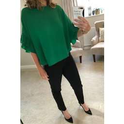 Lucy Cobb Frankie Blouse - Golf Green