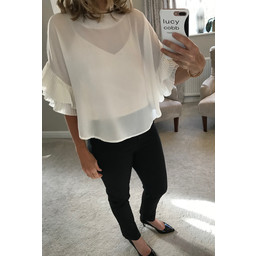 Lucy Cobb Frankie Blouse in Summer White
