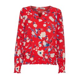 B Young Franny Printed Blouse - Red